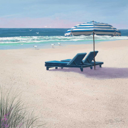 Beach Umbrella Poster Print by Lin Seslar - Item # VARPDX10154