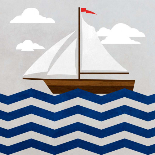Chevron Sailing II Poster Print by SD Graphics Studio - Item # VARPDX10442