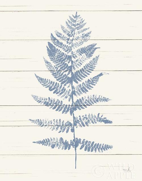 Fern Print II Blue Crop Poster Print by Moira Hershey - Item # VARPDX42747