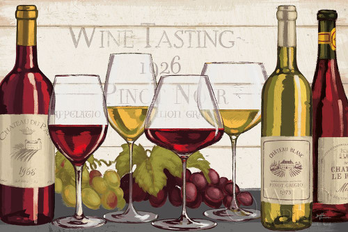 Wine Tasting I Poster Print by Janelle Penner - Item # VARPDX45342