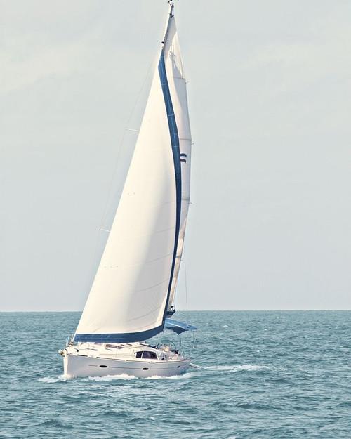 Sailboat in the Ocean Poster Print by Kathy Mansfield - Item # VARPDX10758M