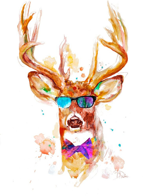 Cool Stag Poster Print by Patricia Pinto - Item # VARPDX12906A