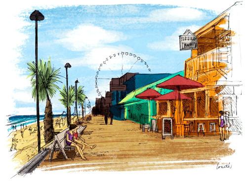 On The Boardwalk in Color Poster Print by Lanie Loreth - Item # VARPDX12923A