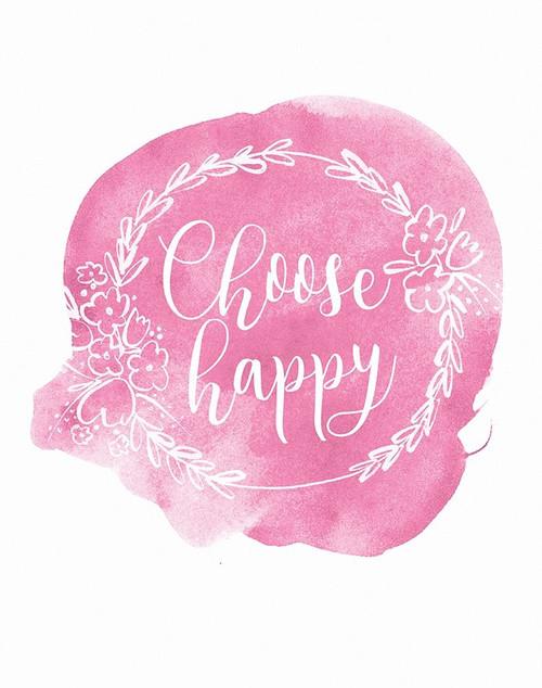 Choose Happy Poster Print by Isabel Serna - Item # VARPDXSNA113
