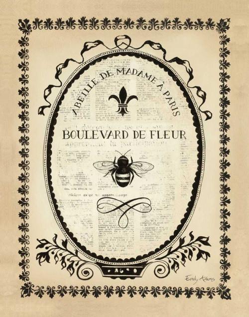 Paris Bees II Poster Print by Emily Adams - Item # VARPDX10671