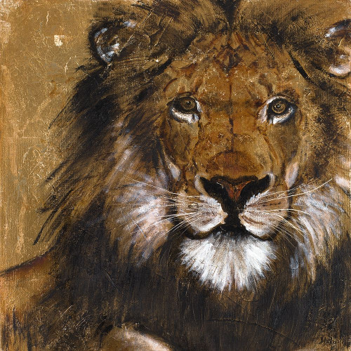 Lion on Gold Poster Print by Patricia Pinto - Item # VARPDX12045G