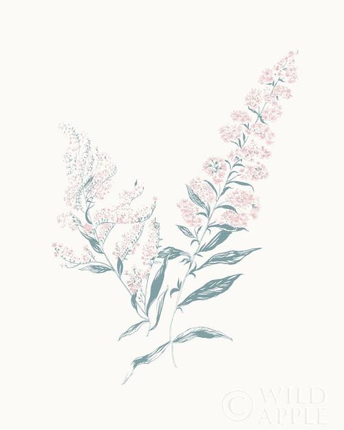 Flowers on White I Contemporary Poster Print by Wild Apple Portfolio - Item # VARPDX44423