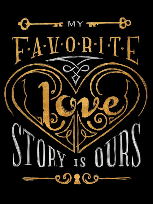 Black and Gold Love Story Poster Print by SD Graphics Studio - Item # VARPDX11106B