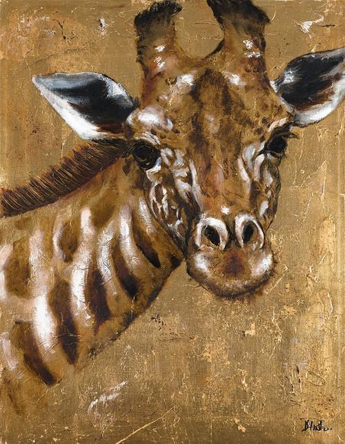 Gold Giraffe Poster Print by Patricia Pinto - Item # VARPDX12044