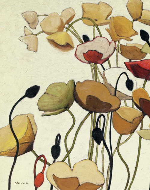 Pavots Ondule I Poster Print by Shirley Novak - Item # VARPDX13054