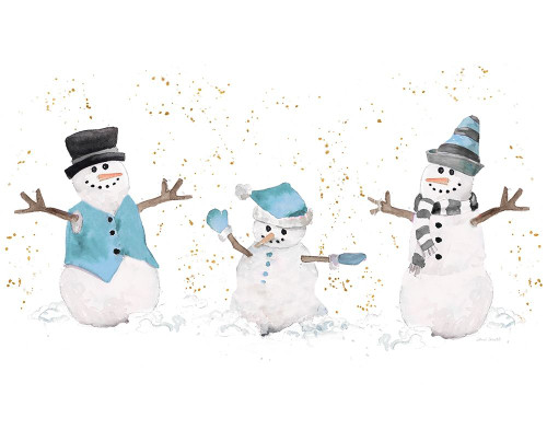 Blue Snowman Trio Poster Print by Lanie Loreth - Item # VARPDX12159N
