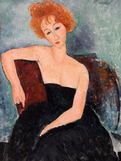 Jeune fille rousse en robe de soir Poster Print by Modigliani Amedeo - Item # VARPDX3AM4359