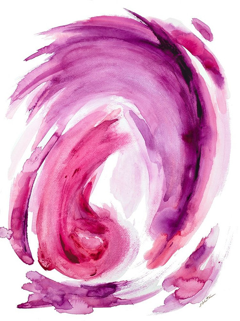 Pink Swirl I Poster Print by L. Hewitt - Item # VARPDX13246