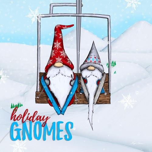 Gnome Ski Ride Poster Print by Hugo Edwins - Item # VARPDX13293HA