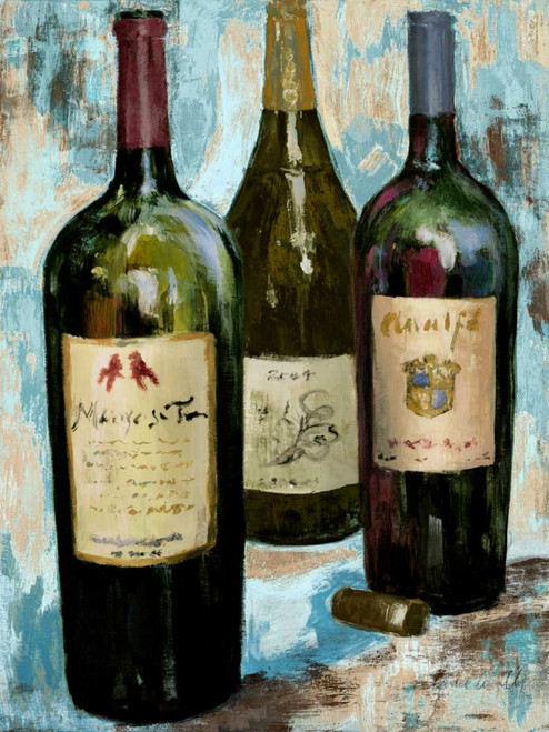 Time for Wine on Blue II Poster Print by Lanie Loreth - Item # VARPDX10888B