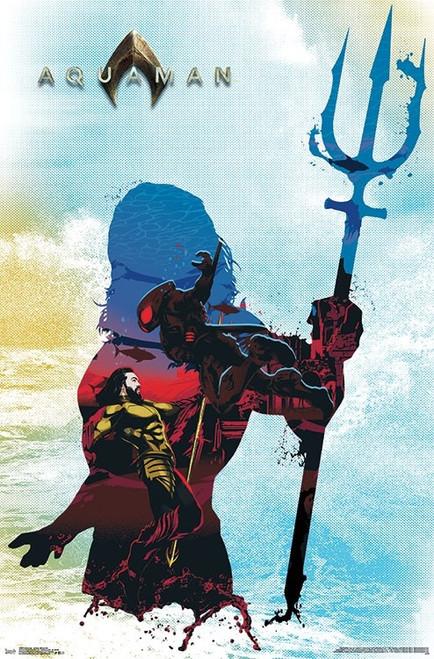 Aquaman - Arthur Silhouette Poster Print - Item # VARTIARP15963