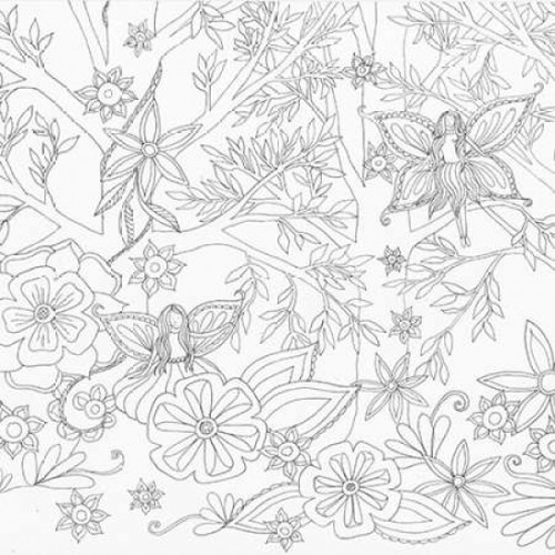 Fairy Floral 1 Poster Print by Pam Varacek - Item # VARPDXPVSQ013D