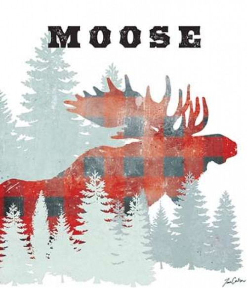 Plaid Moose Poster Print by Tina Carlson - Item # VARPDXTCRC073B