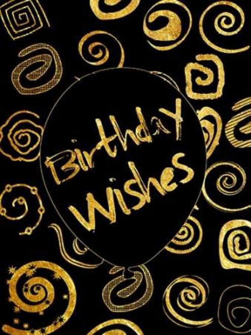 Golden Birthday Wishes Poster Print by Sheldon Lewis - Item # VARPDXSLBRC213B1