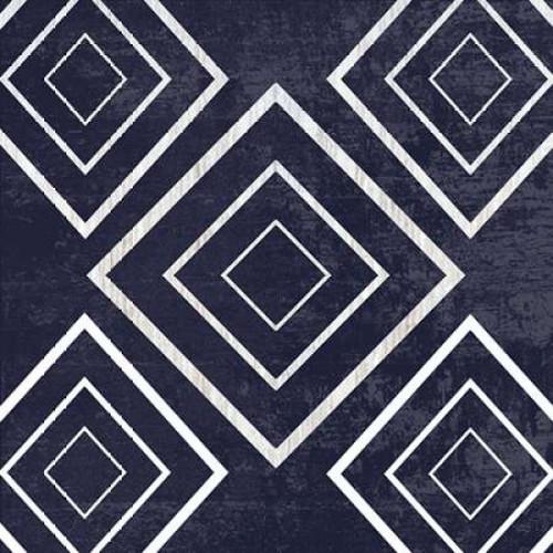 Indigo Geometrical Gem 3 Poster Print by Sheldon Lewis - Item # VARPDXSLBSQ235C
