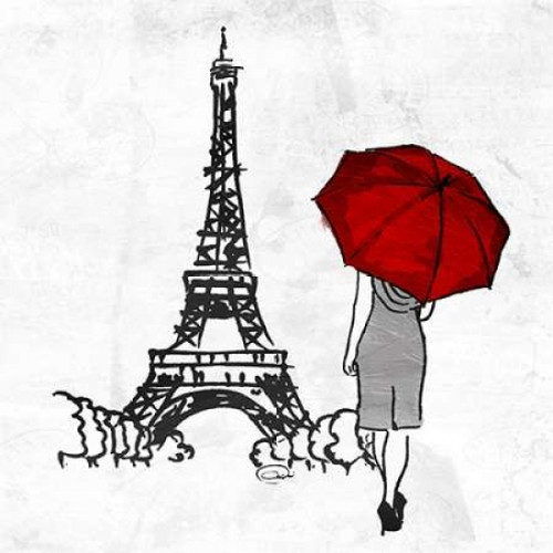 Inked Walk Away Red Mate Poster Print by OnRei - Item # VARPDXONSQ058B2