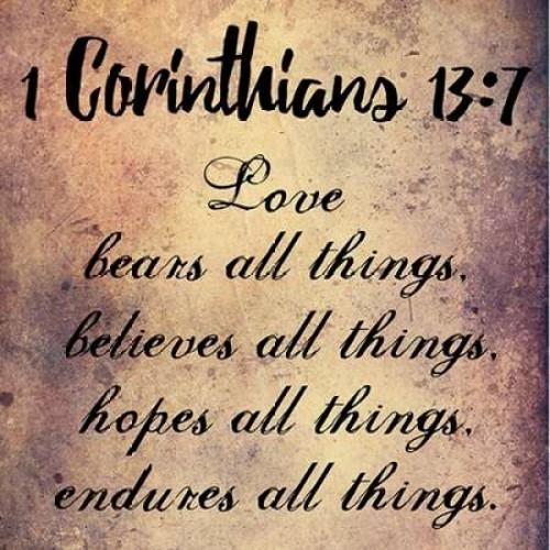 Love Endures All Things Poster Print by Sheldon Lewis - Item # VARPDXSLBSQ273B