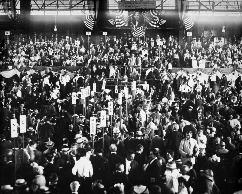 Presidential Campaign, 1912. /Nthe Democratic National Convention At Baltimore, Maryland, 1912. Woodrow Wilson And Thomas R. Marshall Accepted The Party'S Nomination For President And Vice President. Poster Print by Granger Collection - Item # VARGRC