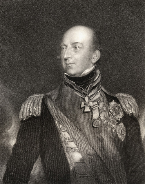 Sir Edward Codrington 1770 To 1851 British Admiral Hero Of The Battle Of Trafalgar And The Battle Of Navarino Engraved By J Cochran After Sir T Lawrence From The Book National Portrait Gallery Volume Ii Published C 1835 PosterPrint - Item # VARDPI186