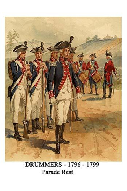 Infantry & Musicians.  High quality vintage art reproduction by Buyenlarge.  One of many rare and wonderful images brought forward in time.  I hope they bring you pleasure each and every time you look at them. Poster Print by Henry Alexander  Ogden -