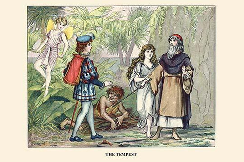 The Tempest.  High quality vintage art reproduction by Buyenlarge.  One of many rare and wonderful images brought forward in time.  I hope they bring you pleasure each and every time you look at them. Poster Print by H.  Sidney - Item # VARBLL0587313