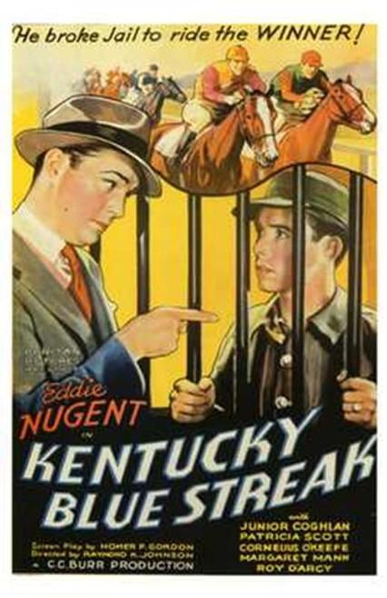 Kentucky Blue Streak Movie Poster (11 x 17) - Item # MOV196931