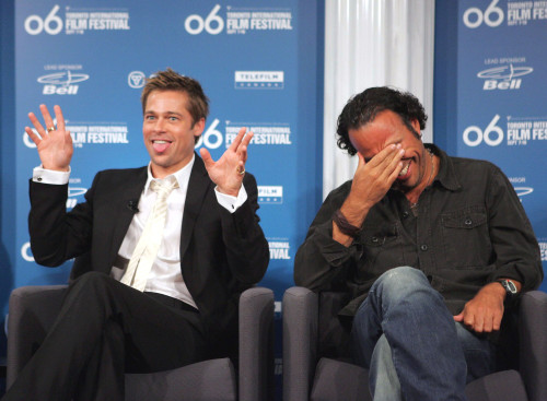Brad Pitt, Alejandro Gonzalez Inarritu At The Press Conference For Babel Press Conference - Toronto International Film Festival, Sutton Place Hotel, Toronto, Canada, On, September 10, 2006. Photo By Malcolm TaylorEverett Collection - Item # VAREVC061