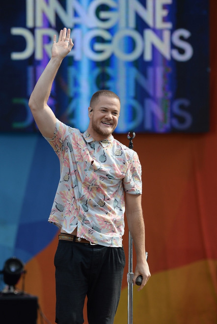 Dan Reynolds, Imagine Dragons On Stage For Good Morning America Summer Concert Series With Imagine Dragons, Rumsey Playfield In Central Park, New York, Ny July 28, 2017. Photo By Kristin CallahanEverett Collection Celebrity ( x - Item # VAREVC1728L03