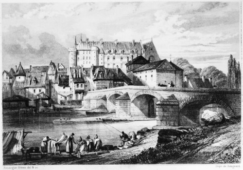 France: Lapalisse. /Na View Of Lapalisse On The Loire River In France, Showing The Ch_teau De La Palice, Constructed Between The 11Th And 16Th Centuries. Steel Engraving, French, C1850, By Adolphe And �mile Rouargue. Poster Print by Granger Collectio