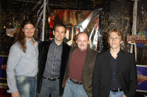 Todd Hollenshead, Kevin Cloud, Tim Willets, John Carmack At Arrivals For Doom Premiere, Universal Studios Cinema At Universal Citywalk, Los Angeles, Ca, October 17, 2005. Photo By Michael GermanaEverett Collection Celebrity - Item # VAREVC0517OCFGM00