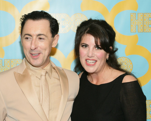 Alan Cumming, Monica Lewinsky At The After-Party For Hbo After Party For The Golden Globe Awards 2015, Circa 55 Restaurant At The Beverly Hilton Hotel, Beverly Hills, Ca January 11, 2015. Photo By James AtoaEverett Collection - Item # VAREVC1511J16JO