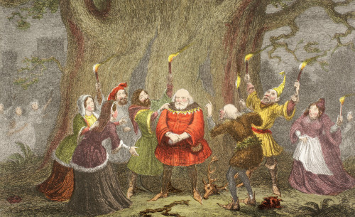 Falstaff Speaks In The Merry Wives Of Windsor, Act V, Scene V, By William Shakespeare. I Do Begin To Perceive That I Am Made An Ass. Drawn And Etched By George Cruikshank. From The Illustrated Library Shakspeare, Published London 1890. PosterPrint -