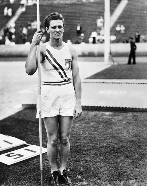 'Babe' Didrikson Zaharias /N(1911-1956). N_E Mildred Ella Didrikson. American Athlete. Photographed In The Olympic Stadium In Los Angeles, California, Where She Set A World Record For The Javelin Event, 1932. Poster Print by Granger Collection - Item