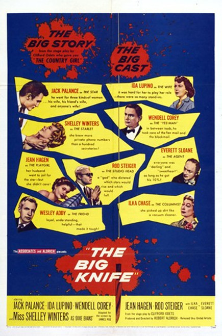 The Big Knife Movie Poster (11 x 17) - Item # MOV414085