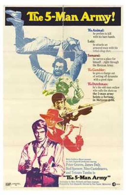 The 5 Man Army Movie Poster (11 x 17) - Item # MOV203814