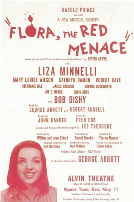 Flora the Red Menace (Broadway) Movie Poster (11 x 17) - Item # MOV409251