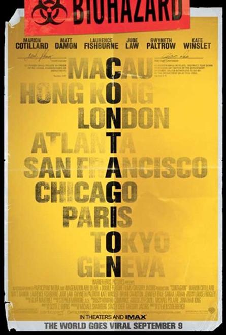 Contagion Movie Poster (11 x 17) - Item # MOVAB00024