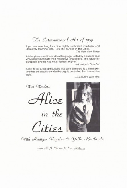 Alice in the Cities Movie Poster Print (27 x 40) - Item # MOVAF8433