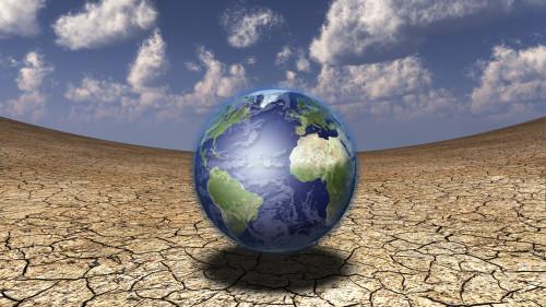 3d render. Globe in surreal desert. Poster Print by Bruce Rolff/Stocktrek Images - Item # VARPSTRFF200072S