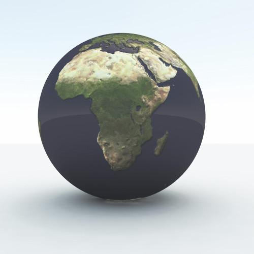 3d render of globe showing Africa. Poster Print by Bruce Rolff/Stocktrek Images - Item # VARPSTRFF200081S