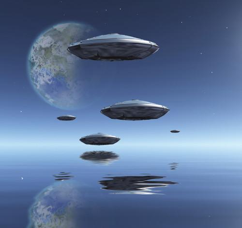 Terraformed Moon and Spacecrafts over water surface. 3D rendering Poster Print by Bruce Rolff/Stocktrek Images - Item # VARPSTRFF201257S