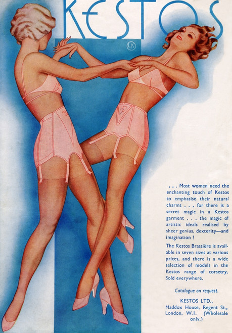 1934 Advertisement For Kestos Lingerie. Poster Print by Ken Welsh / Design Pics - Item # VARDPI12280451