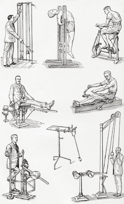 1920's excercise apparatus.  From Meyers Lexicon, published 1927. Poster Print by Ken Welsh / Design Pics - Item # VARDPI12332590