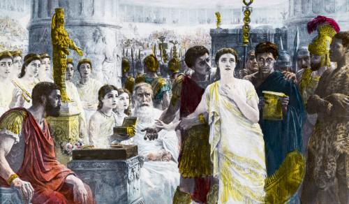 A Hand Coloured Magic Lantern Slide Circa 1900. Diana Or Christ, Thos Agnew Poster Print by John Short / Design Pics - Item # VARDPI12329355