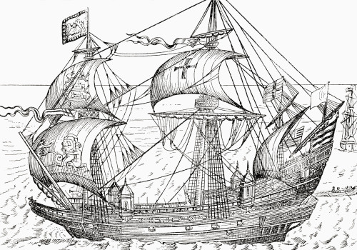 16th Century Warship.  From A First Book Of British History Published 1925. Poster Print by Hilary Jane Morgan / Design Pics - Item # VARDPI12283506